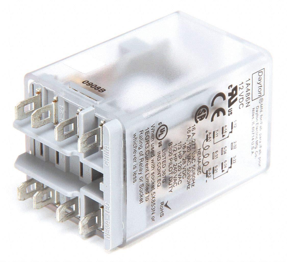 5X847 DAYTON Open Power Relay,8 Pin,120VAC,DPDT
