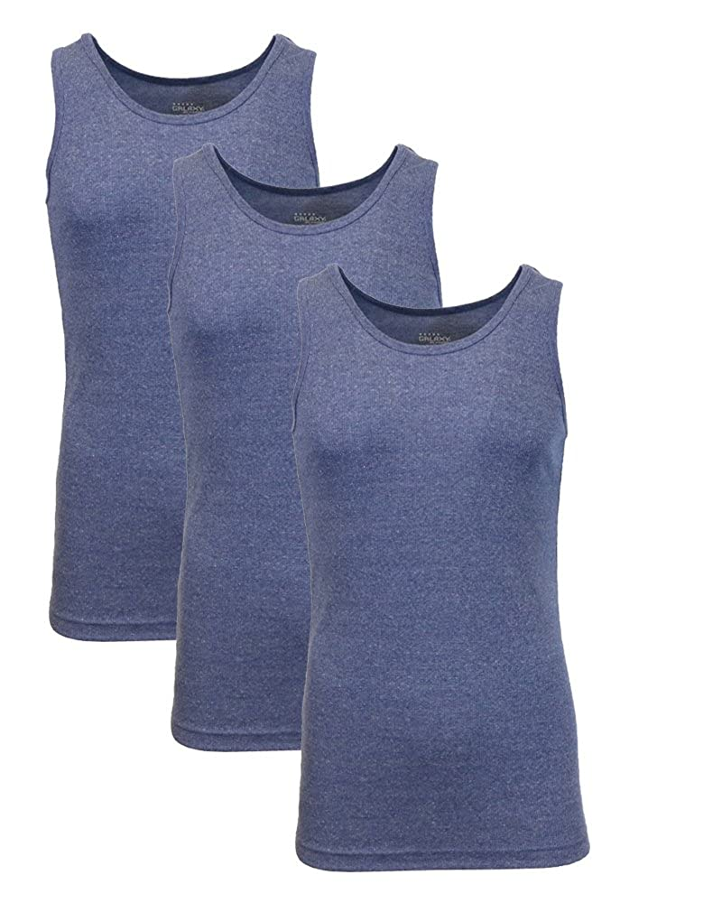 47b97d03a9aa7a Galaxy by Harvic Single and 3-Pack Mens Heavy-Weight Ribbed Tank Tops at  Amazon Men s Clothing store