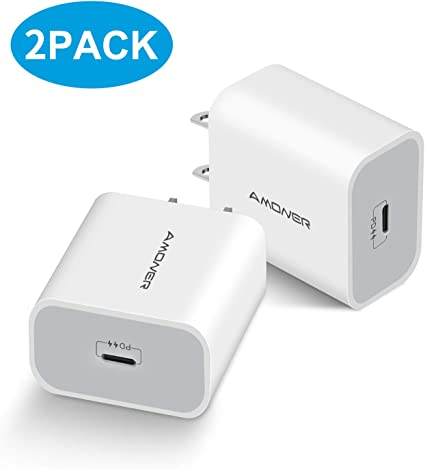 18W PD Charger Google Pixel 2//2 XL iPad Pro Tiny Adapter Compatible iPhone Xs//XS Max//XR//X//8 Cable Not Included Samsung Galaxy S9//S8//Plus USB Type C Fast Charger Power Delivery 3.0