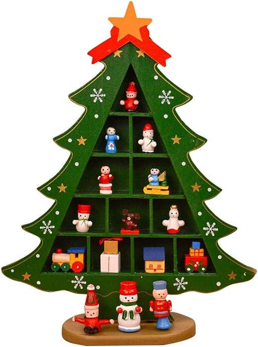 Mumuj Decoración navideña, decoración para el hogar, Madera, árbol ...
