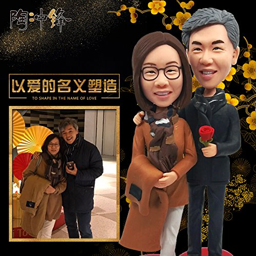 - Custom character mode handmade customized from person photo making figure model Real doll polymer clay doll clay figurines of wax sculpture portrait couple married couple
