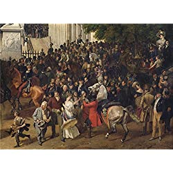 Oil Painting 'Franz Kruger- Parade Auf Dem Opernplatz In Berlin,1830', 12 x 17 inch / 30 x 42 cm , on High Definition HD canvas prints is for Gifts And Bed Room, Hallway And Study Room Decoration, art