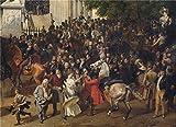 Best Star Gallery Friend Promises - Oil Painting 'Franz Kruger Parade Auf Dem Opernplatz Review
