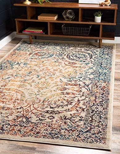 Unique Loom Oslo Distressed Over-Dyed Area Rug, 10 0 x 13 0, Beige
