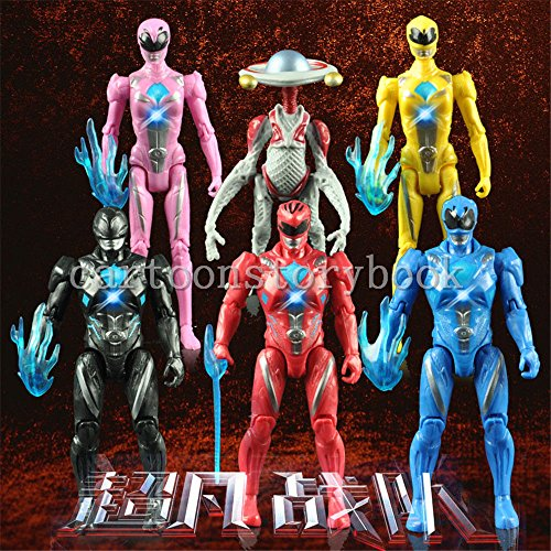 6pcs Set Power Rangers The Movie Action Figures Kimberly Trini Billy Decoration - Power Rangers Putties Costume