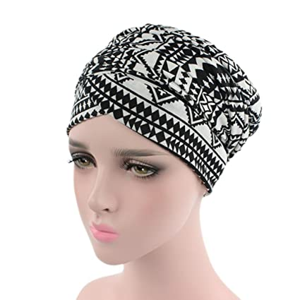 Sombrero para mujer con estampado de turbante y quimio; gorras de ...