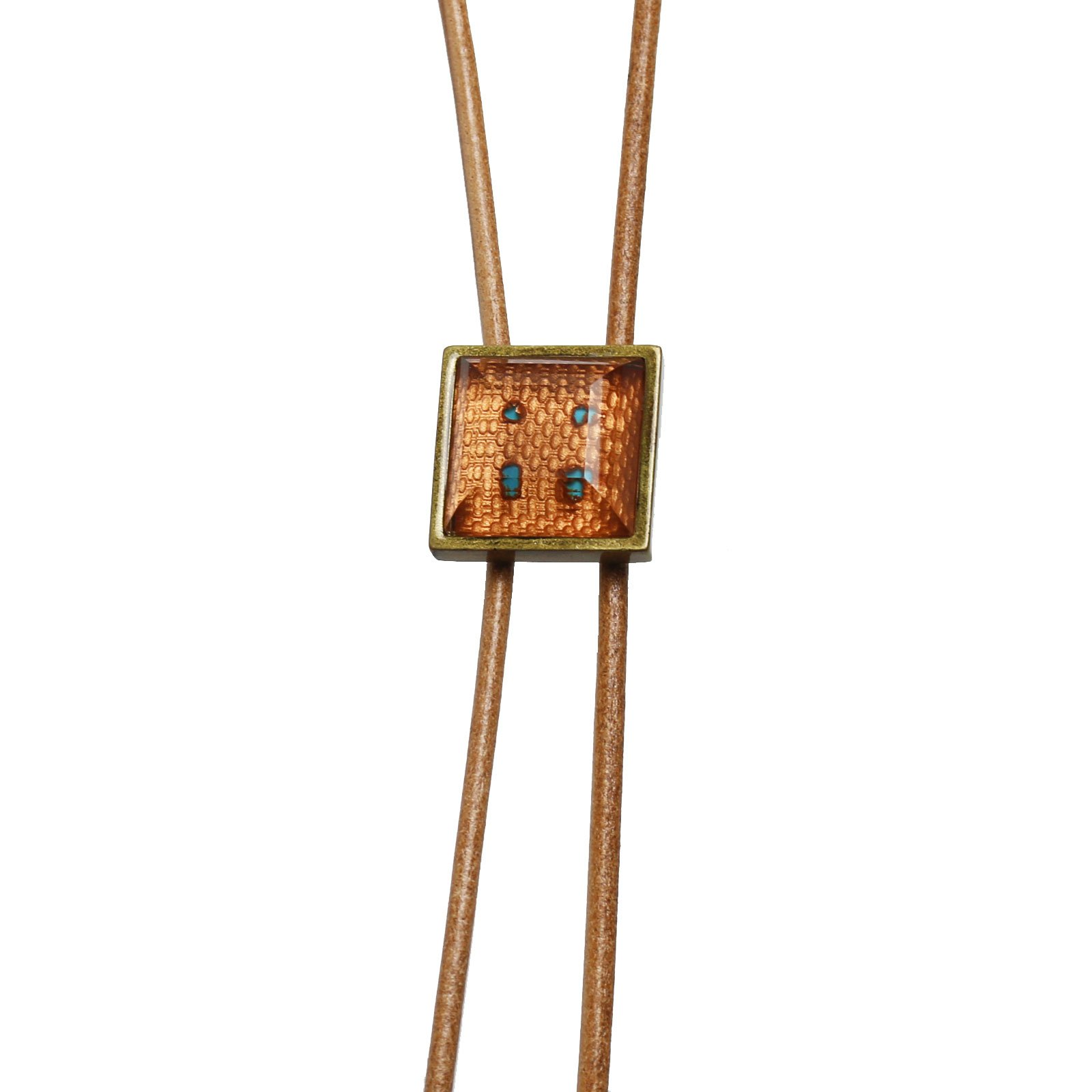 Tamarusan Bolo Tie Handmade Men'S Accessories Orange Leather Necktie