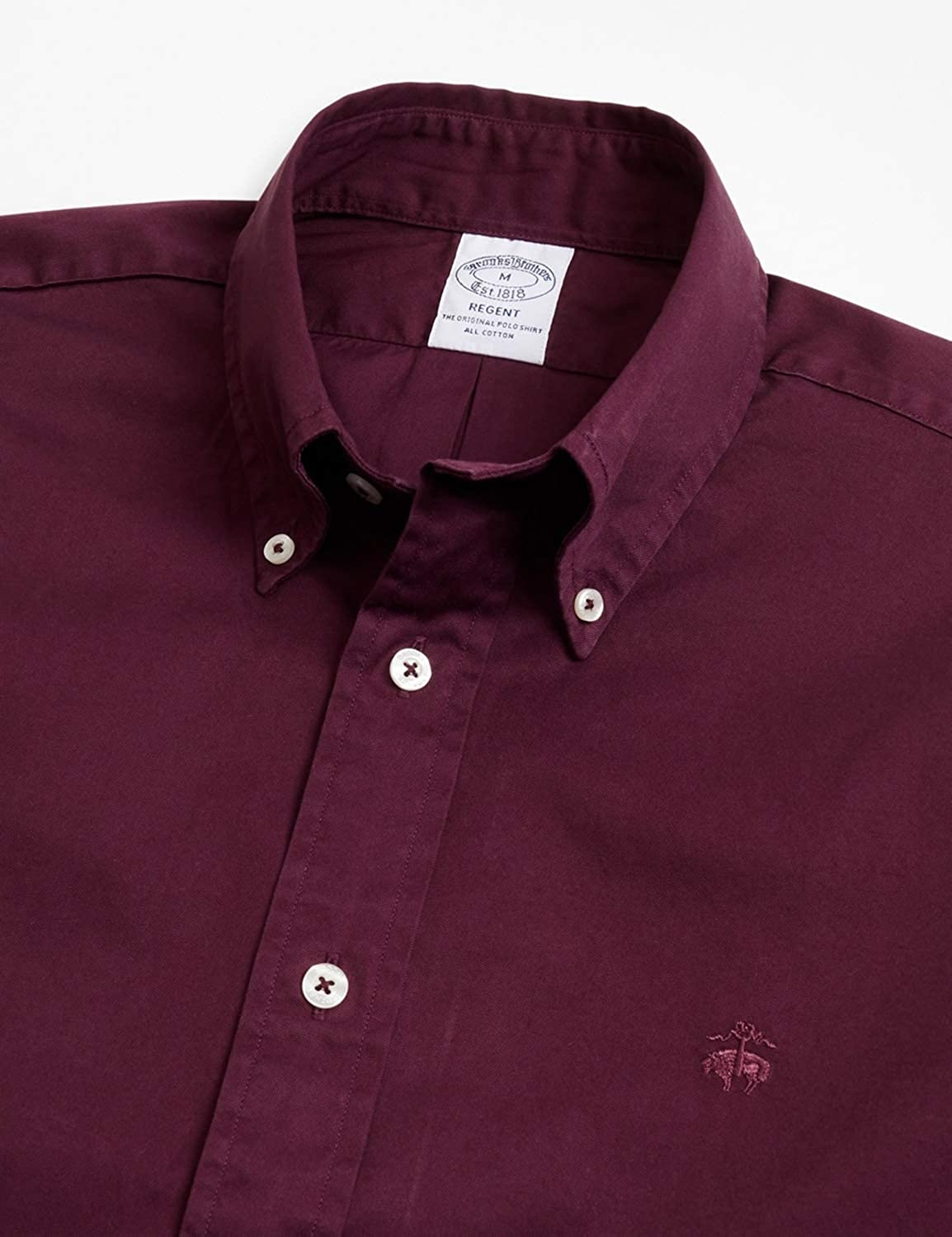 Brooks Brothers Men's Camicia Sportiva Shirt Open Red