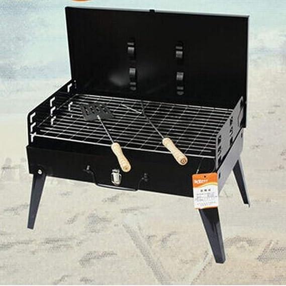 ZKKAW Quemador de BBQ, Parrilla de carbón de leña portátil ...