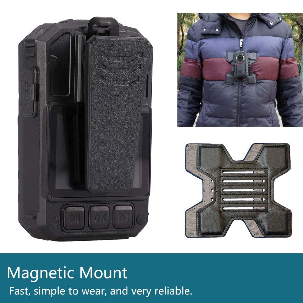 Mojo Police Body Camera with 1440P, H.265,140° Wide Angle Lens,12+ Hour Battery Life at 1080p,Low Light Recording at 0.1 Lux, Pre-Buffering up to 30 Sec,Compact and Lightweight Body Worn Camera-32GB by GoflyCam (Image #4)