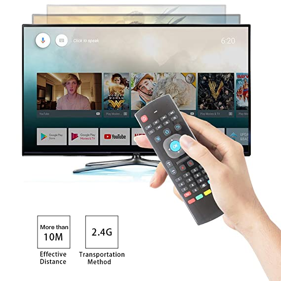 Aire ratón, strqua inalámbrico aire ratón remoto mx3,2.4g KODI mando a distancia, control remoto por infrarrojos mini teclado inalámbrico y aprendizaje, ...