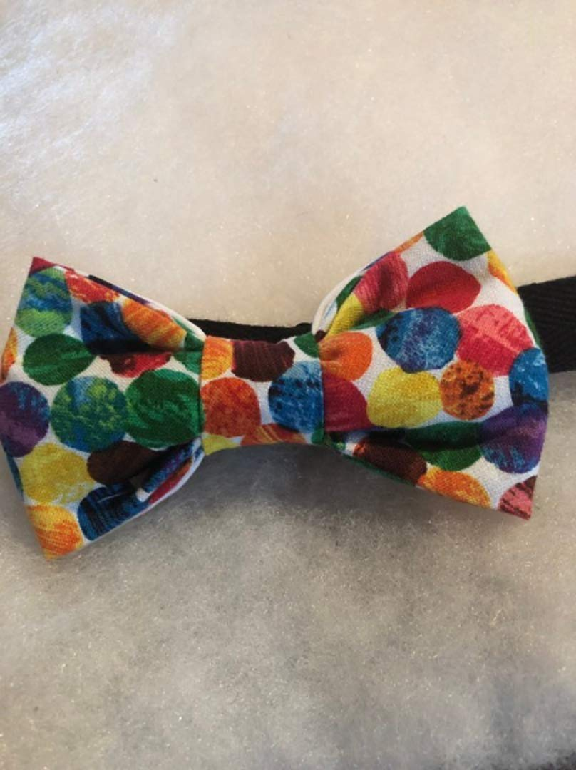 The very hungry Caterpillar themed kids bow tie. Pre-tied cotton with 14' adjustable strap. Perfect for the Eric Carle young reader.