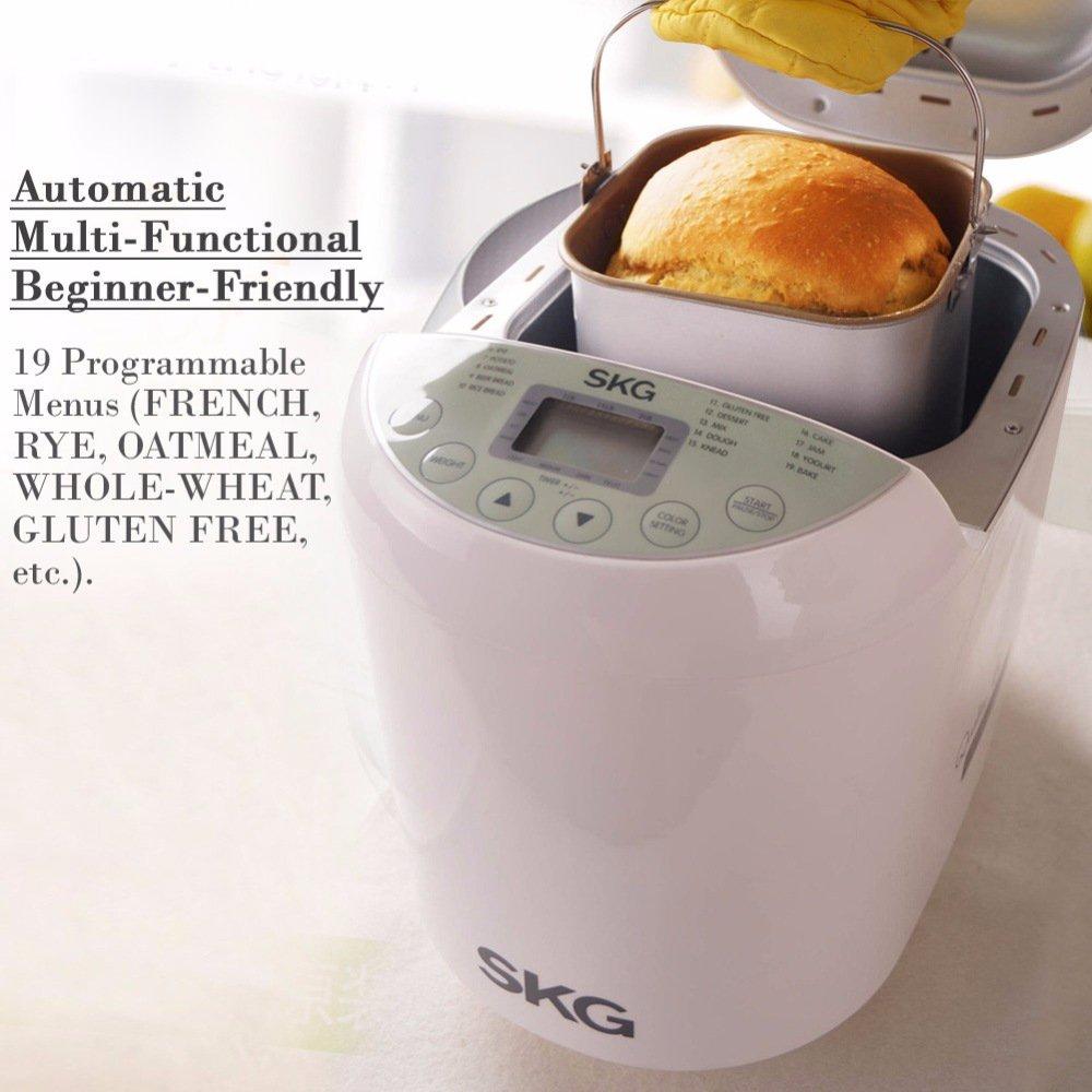 SKG Automatic Bread Machine 2LB - Beginner Friendly Programmable Bread Maker by SKG (Image #3)
