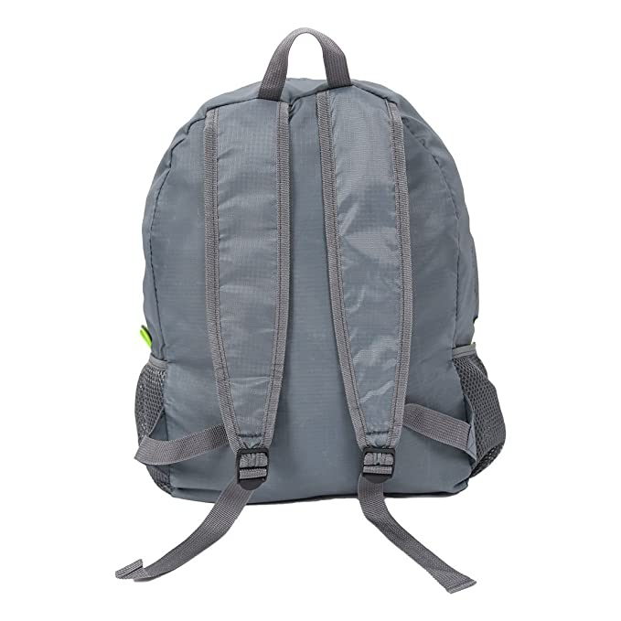 Amazon.com: eDealMax Resistente equipaje plegable agua al aire Libre de embalaje Bolsa de viaje Mochila de senderismo de almacenamiento Gris Oscuro: Home & ...