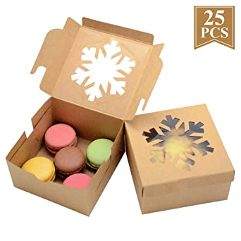 10//25Pcs Macaron Cookie Cake Biscuits Box Wedding Party Gift Favor Packing Box