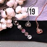 NedolQ Expanding Photo Locket Necklace Pendant