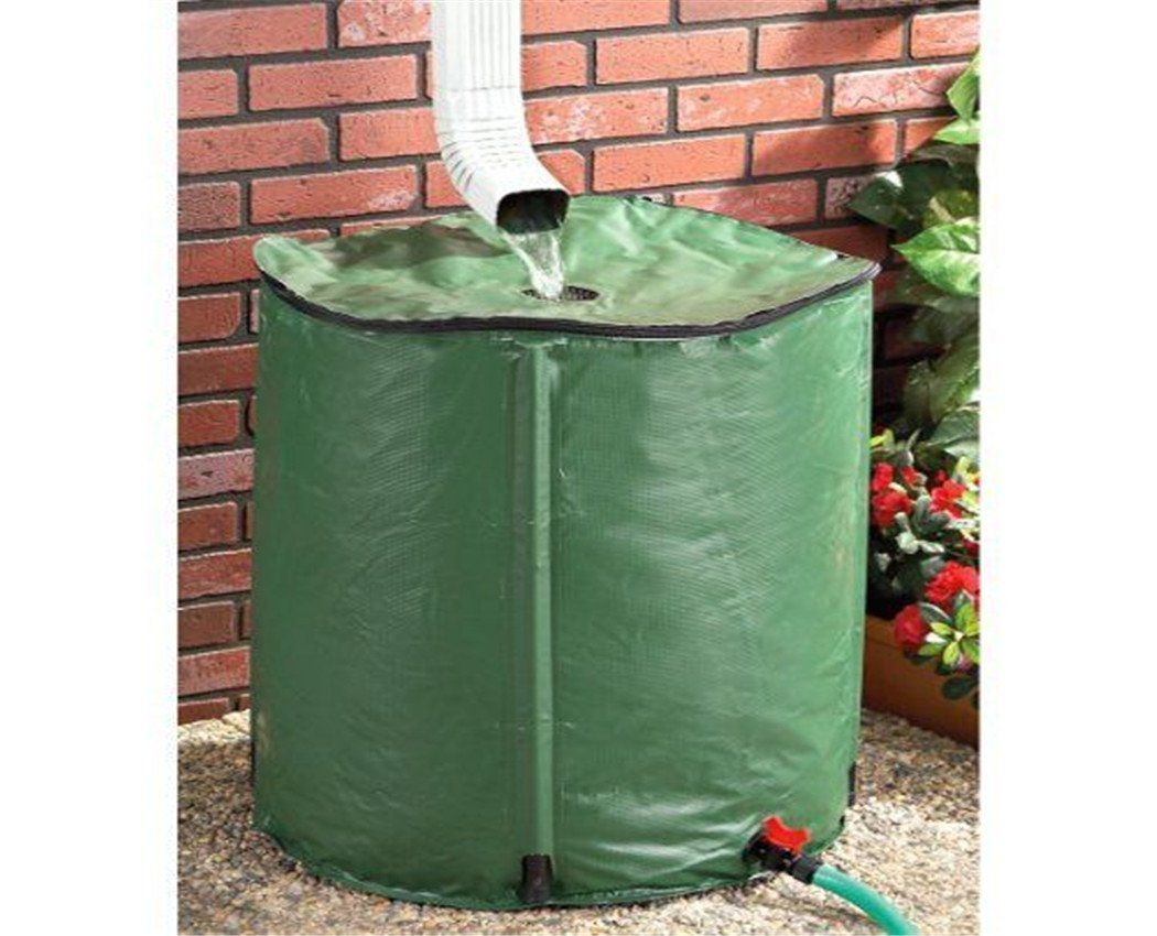50L PVC Foldable Water Flexitank Soft Rainwater Reserivor Portable Rain Container Bag by DZ