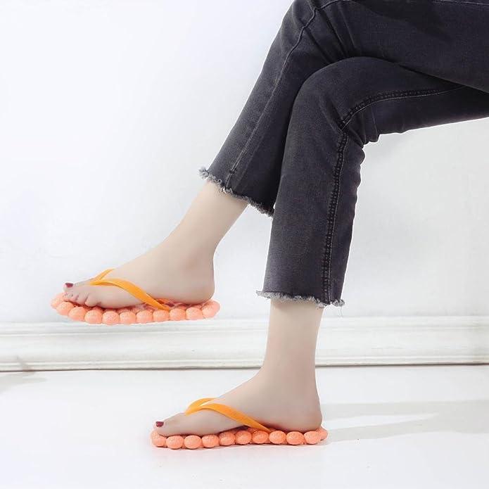 SamMoSon Sandali Scarpe da Donna Elegante Ragazze Casuale Estate Massaggio Slittata Sandali Clip Toe Spiaggia di Sabbia Sandalo Peep Toe Sandali (EU:35=CN:36, Nero)
