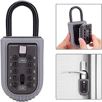 Bosvision Key Lock Box Short Shackle Box Detachable Shackle Design 4 Digit Combination Wall Mounted Large Internal Key Storage Box//Key Safe Box for Indoors and Outdoors