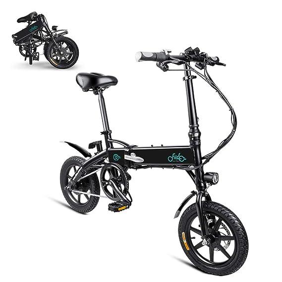 Lixada 14 Pulgadas de Alimentación Eléctrica Bicicleta Plegable Eletric E- Bike 250W Motor 36V 7.8AH / 10.4AH: Amazon.es: Deportes y aire libre