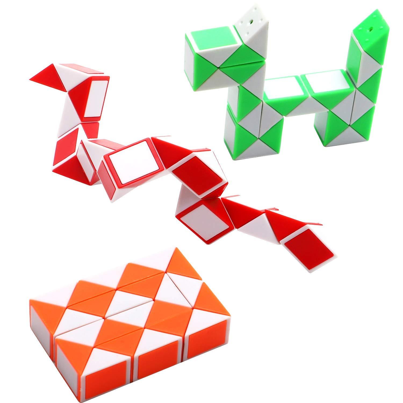 SouthStar Twist Puzzle Toys, Cube de Serpent Magique de 15 Paquets, Mini Cubes de Vitesse du Serpent de 24 Blocs, Rubiks de Serpent pour Les Remplisseurs de Sacs de Fête pour Enfants et Party Favors