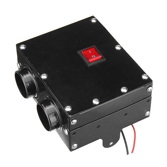 GOZAR 12V 24V 300W Coche Calentador De Camión Calefactor Doble Agujero Calefacción Ventilador Ventana Desempañador - 12V: Amazon.es: Hogar
