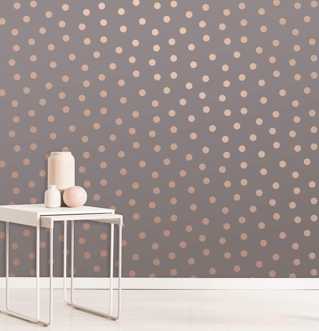 Fine D/écor M1493 Starlight Spots Charcoal Papier peint Marron