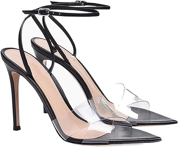 Designer Sandals Transparent Stiletto