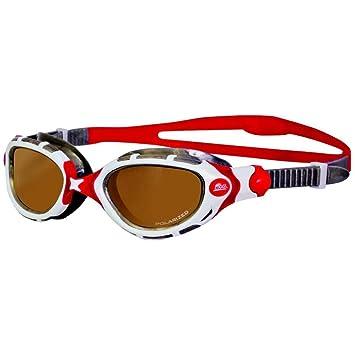 Flex Zoggs Predator polarizadas gafas de natación Ultra pequeño - rojo/blanco