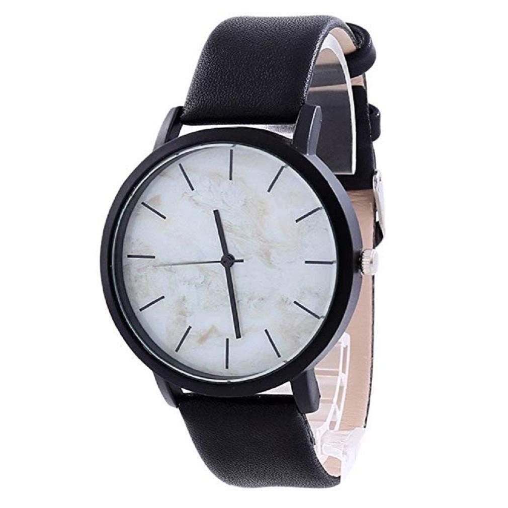 Scpink Relojes de Cuarzo para Mujer, Relojes de Pulsera para Mujer, de marmol y de Modelo. Relojes a la Venta. (Negro Blanco): Amazon.es: Relojes