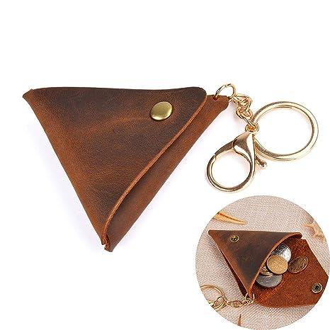 acad0f2b4b Juland Portamonete in vera pelle tasca in vera pelle spremere portamonete  borsa portamonete cambio portafogli portafoglio