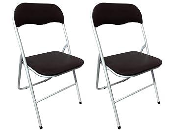 Totò Piccinni sillas Plegables CÓMODOS Metal, Acolchadas de ...
