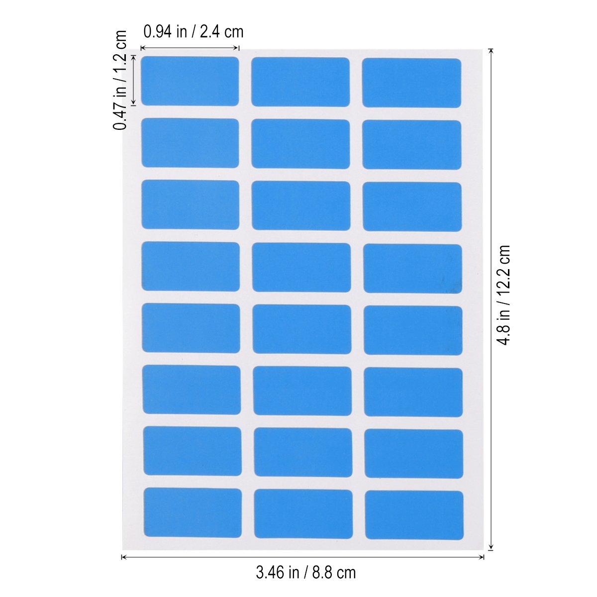 Etichette adesive colorate TOYMYTOY Etichette per Prezzi Archivio 24x12 mm con 6 fogli