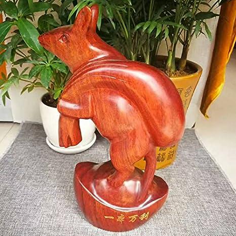 Intaglio del legno zodiac mouse home decor con decorazioni in legno ...