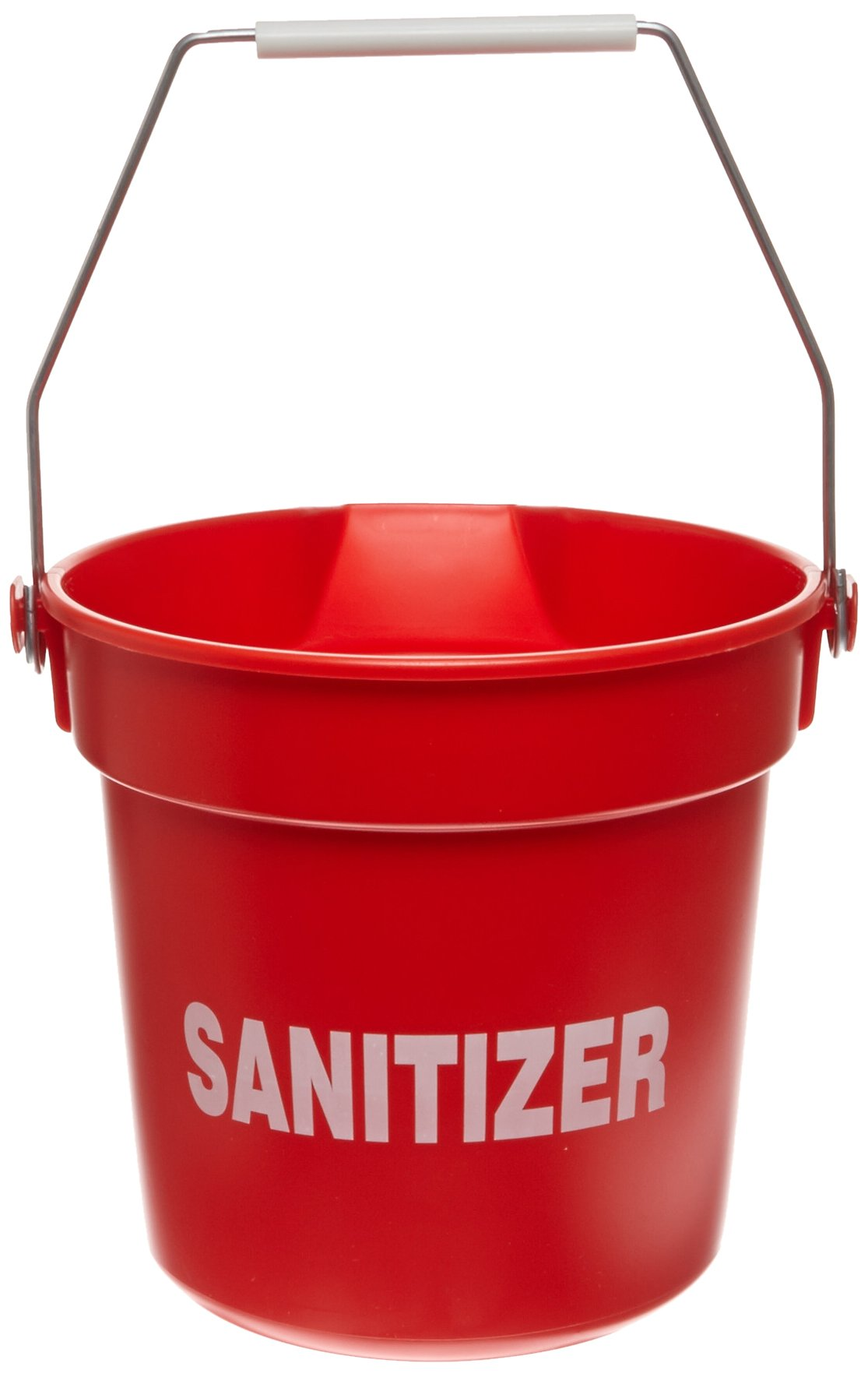 Impact 5510RS High Density Polypropylene Deluxe Heavy-Duty Bucket with Sanitizer Imprint, 10 qt Capacity, 10-1/4'' Length x 10-5/8'' Height, Red (Case of 12)