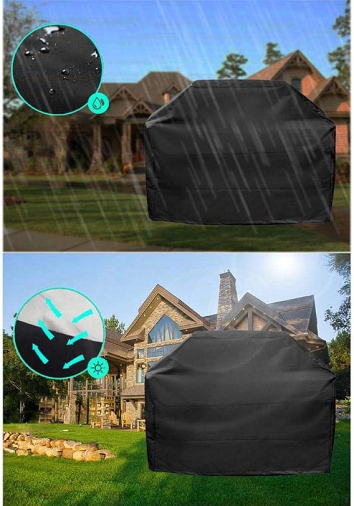 VUBD Housse de Barbecue, Housse de Barbecue étanche,Protecteur de poussière de PluieextérieurAnti-poussière pour Accessoires de Barbecue de Jardin extérieur 2XS L