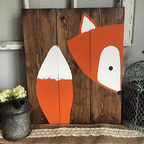16x20 Stay Clever Little Fox Wood Sign Nursery Decor Baby Shower Gift or Baby (Peak A-boo Collection)