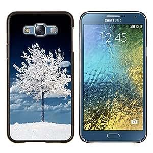 Stuss Case / Funda Carcasa protectora - Árbol Oscuro Blanco Invierno Naturaleza Nieve - Samsung Galaxy E7 E700