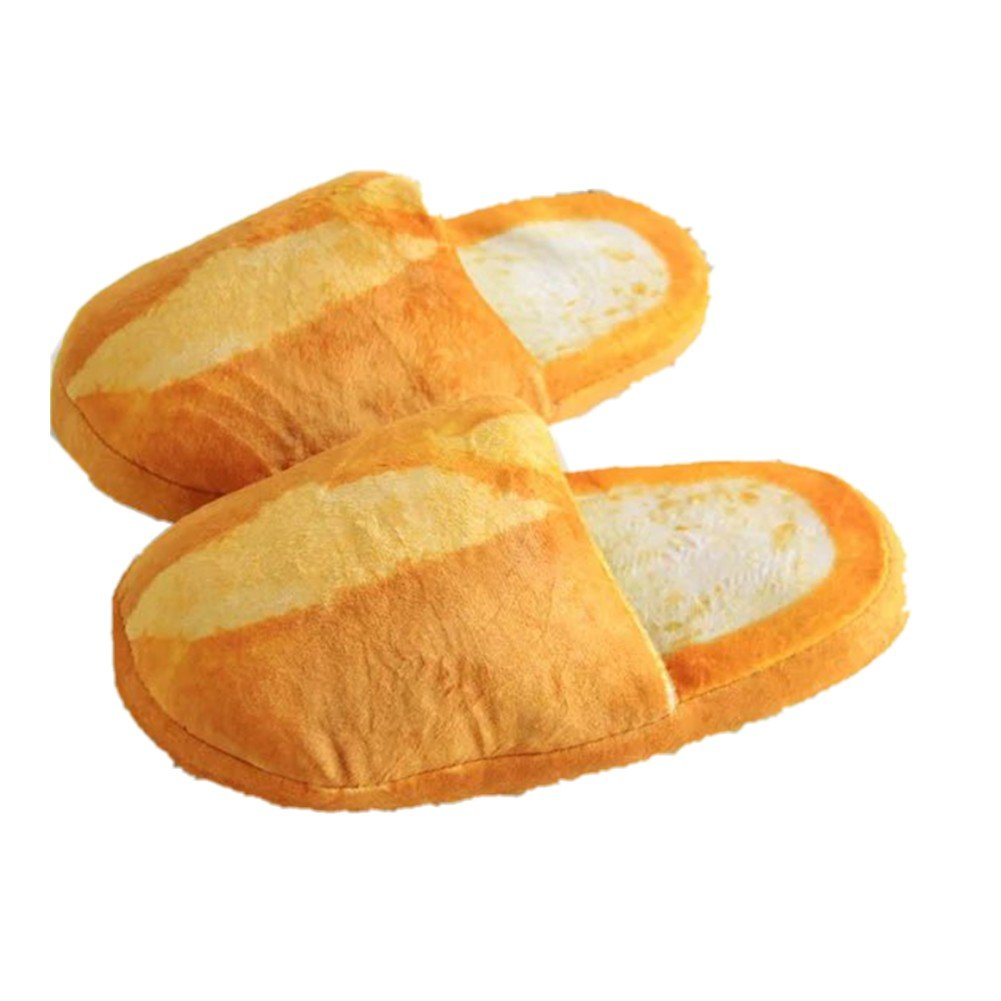Women Men Slippers,Woopower Couples Bread Style Warm Indoor Non-slip Soft Shoes (M, B)