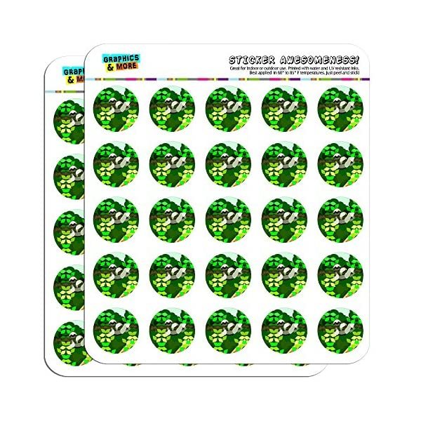 Geometric Sloth 1&Quot; Planner Calendar Scrapbooking Crafting Stickers -