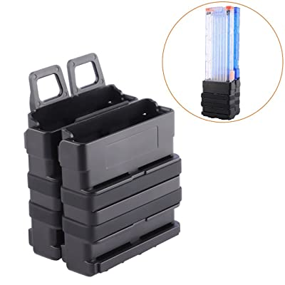 FenglinTech Clip Magazine Holder, Clip Magazine Pouch Quick Pull Box for Nerf Tactics - (Black): Toys & Games