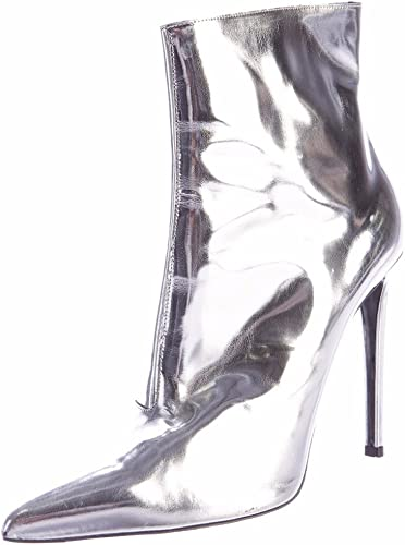 Themost Boot for Women Womens Long Thigh High Metallic Mirror Pointy Toe Stiletto Heel Over The Knee Tall Booties