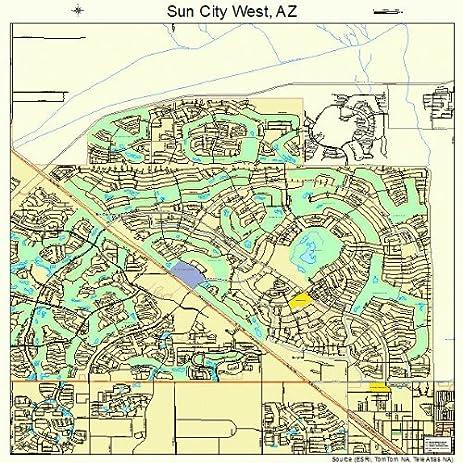Amazoncom Large Street Road Map of Sun City West Arizona AZ