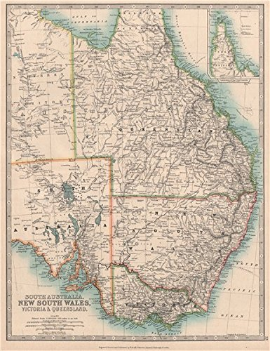Map Eastern Australia.Amazon Com Eastern Australia Queensland New South Wales