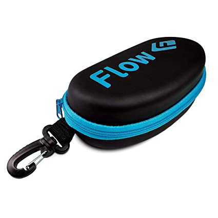 a5f28546898 Amazon.com  Flow Swim Goggle Case with Bag Clip - Black with Blue ...