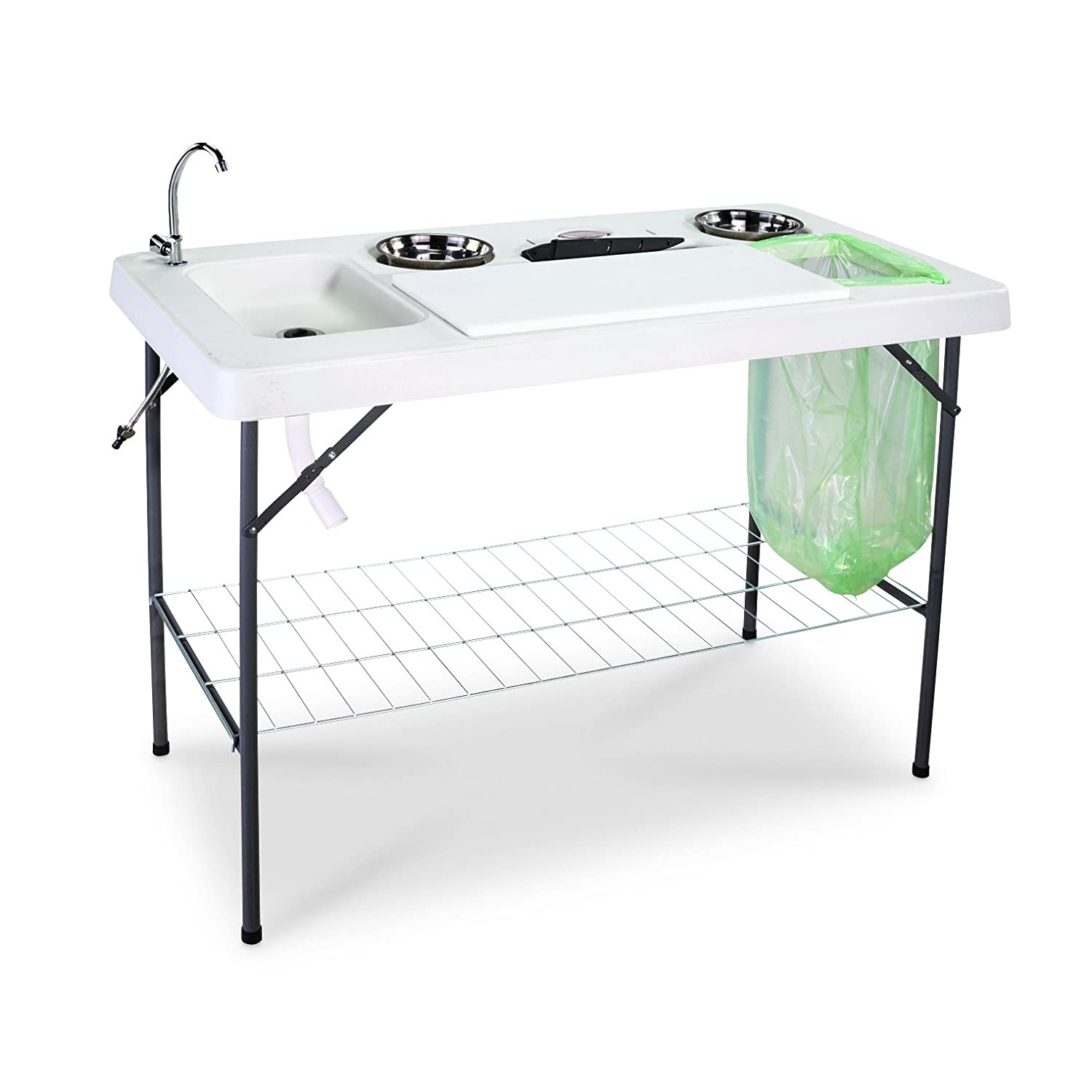 amazon com guide gear deluxe fish game processing table with