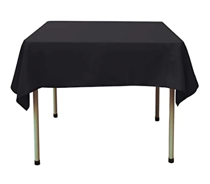 Charmant DYX Square Tablecloth   54 X 54 Inch   Black Square Table Cloth For Square  Or