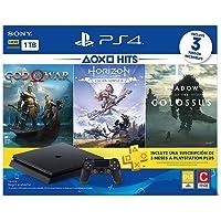 Playstation 4 Slim - 1 Terabyte + 3 Jogos (God of War + Horizon Zero Dawn + Shadow of Colossus)