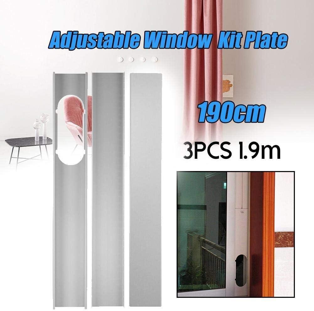 Sellado ventana aire acondicionado 3pcs portátil adaptador de ventana / Ventana Kit de diapositivas Placa conjunto de tubos de escape Conector for los hogares acondicionador de aire portátil Universal: Amazon.es: Hogar