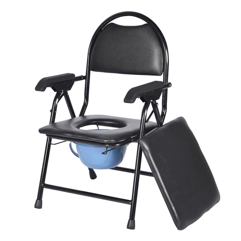 素敵な 頑丈で耐久性のあるバスルームシャワースツールバケツ妊娠中の女性のトイレシート高齢者の持ち運び可能なトイレ椅子パッド付き携帯電話では、障害のあるトイレの椅子アンチスリップ手すりMax.200kg B07F6YF7W2 B07F6YF7W2, 【海外限定】:9c2bfbb7 --- eastcoastaudiovisual.com